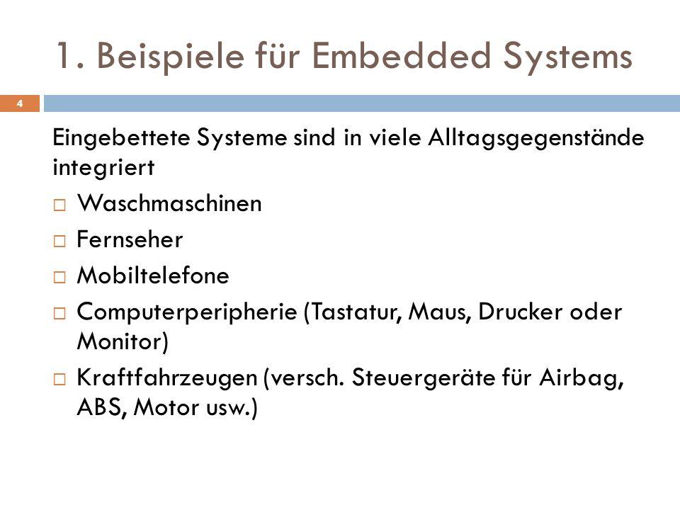 1. Beispiele für Embedded Systems
