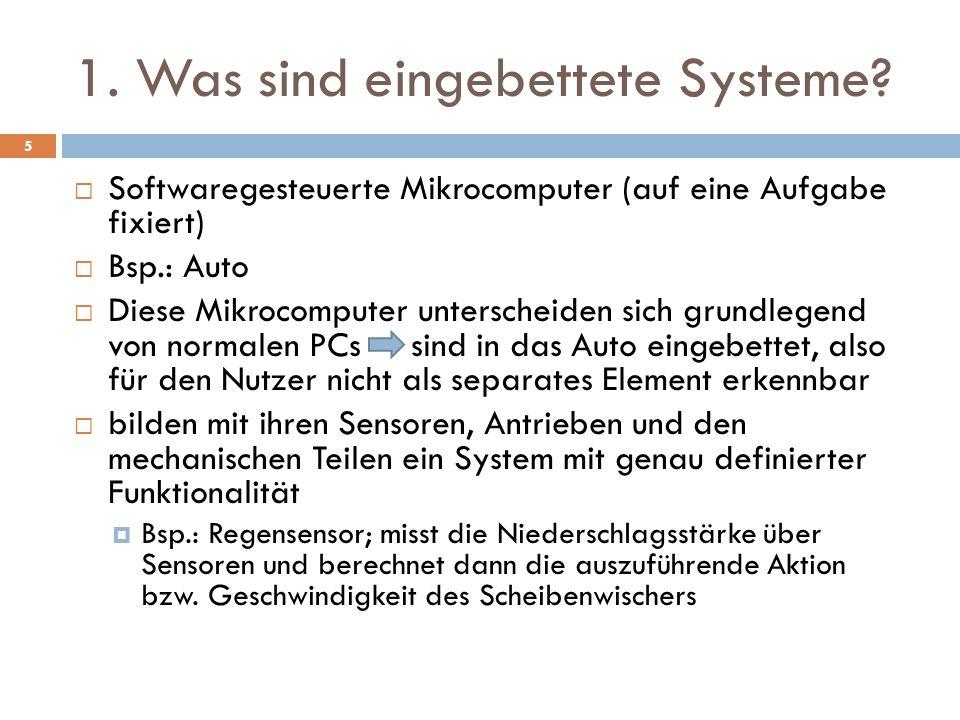 1. Was sind eingebettete Systeme