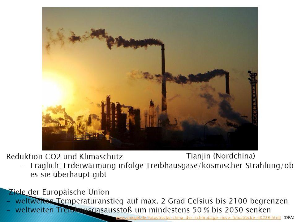 Reduktion CO2 und Klimaschutz