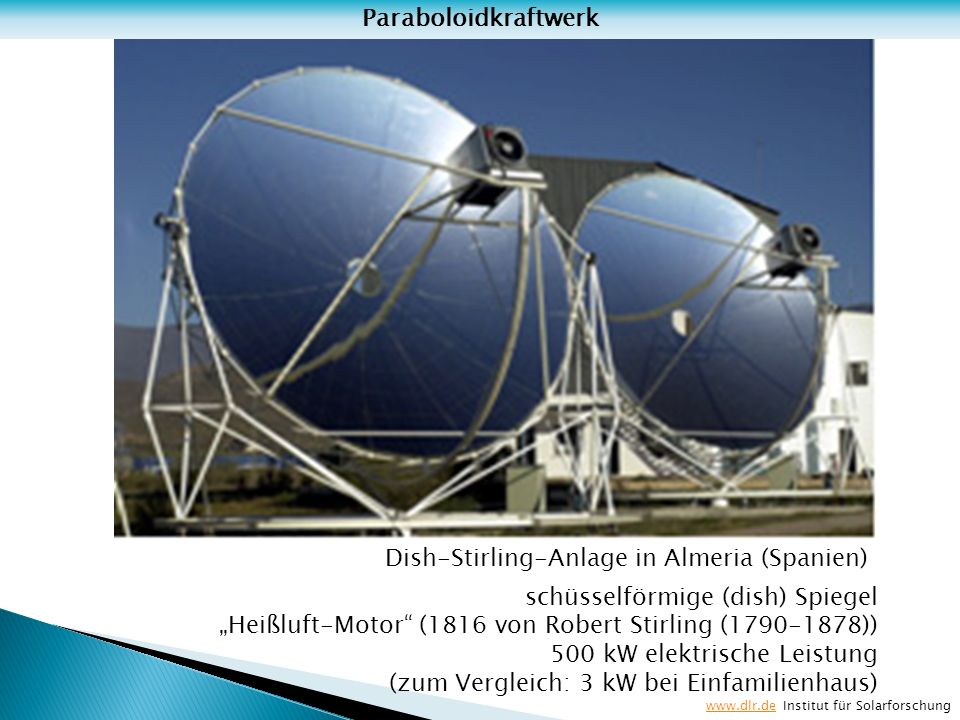 Dish-Stirling-Anlage in Almeria (Spanien)