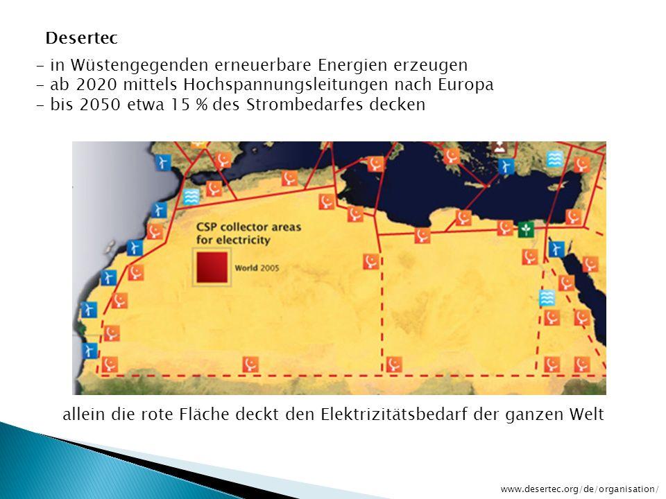 allein die rote Fläche deckt den Elektrizitätsbedarf der ganzen Welt