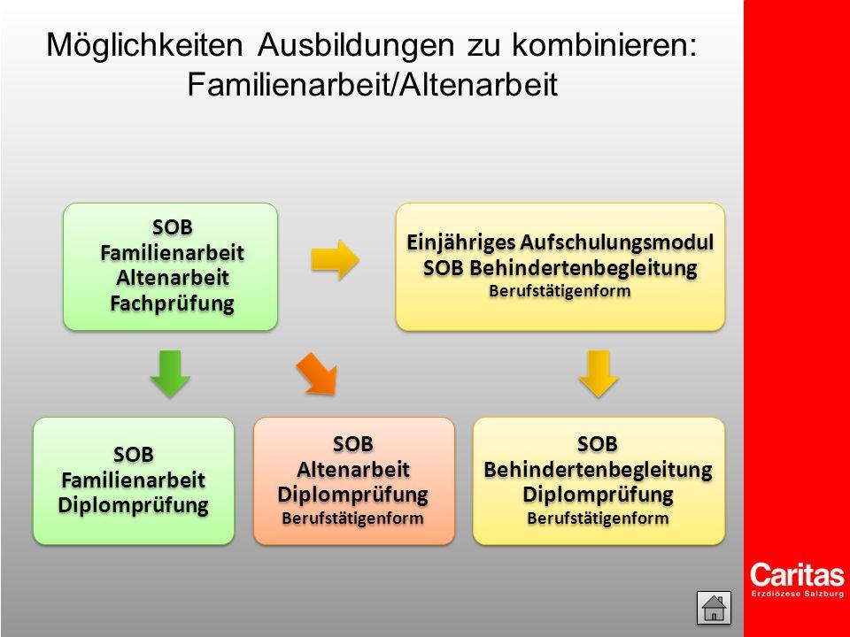 Möglichkeiten Ausbildungen zu kombinieren: Familienarbeit/Altenarbeit
