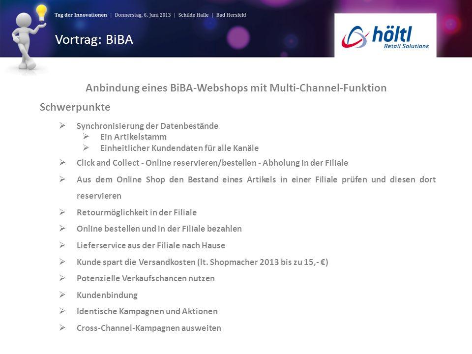 Anbindung eines BiBA-Webshops mit Multi-Channel-Funktion