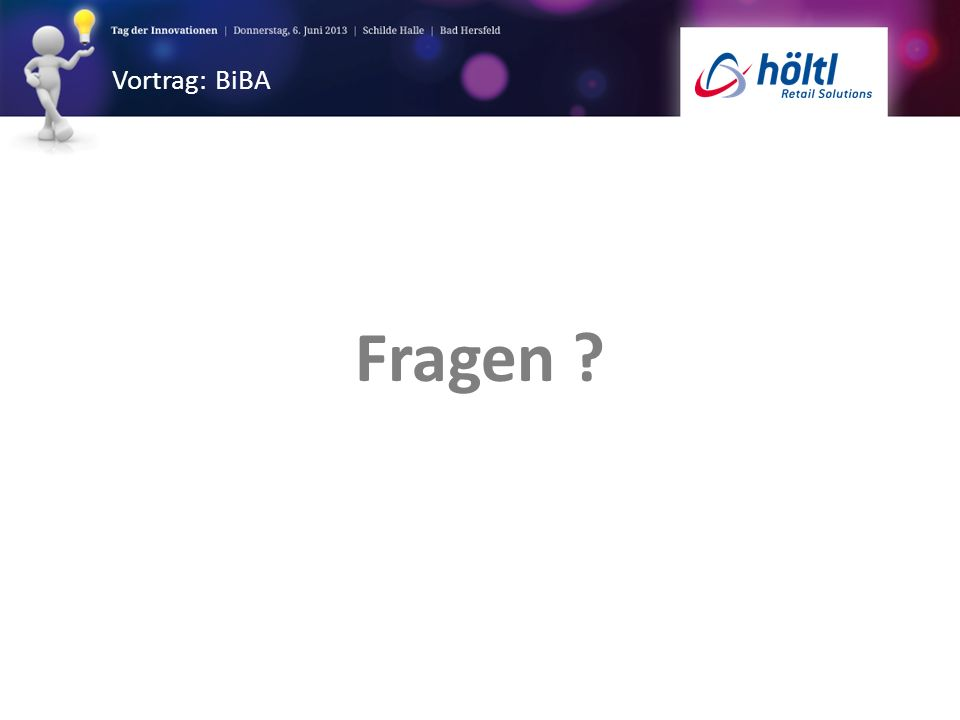 Vortrag: BiBA Fragen