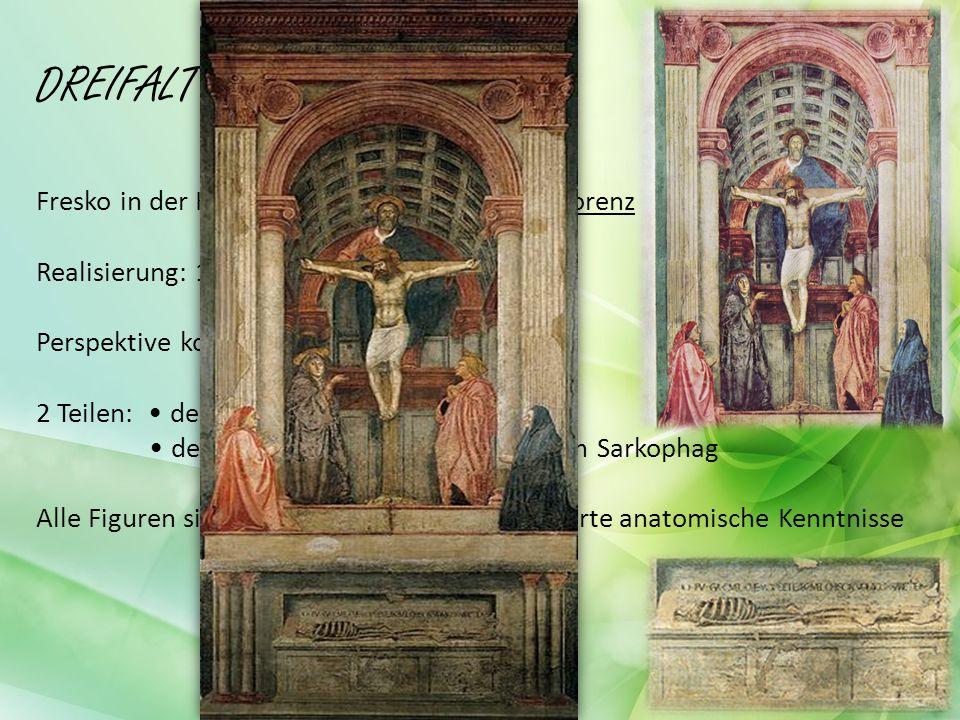 DREIFALTIGKEIT Fresko in der Kirche Santa Maria Novella in Florenz