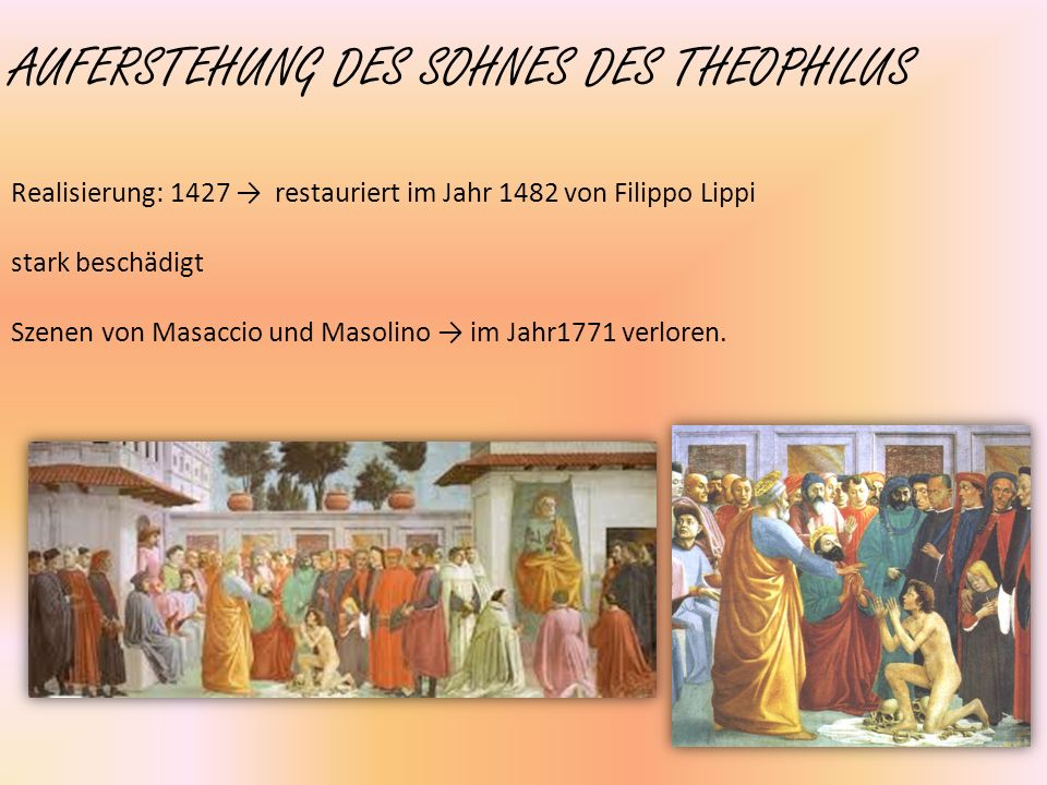 AUFERSTEHUNG DES SOHNES DES THEOPHILUS