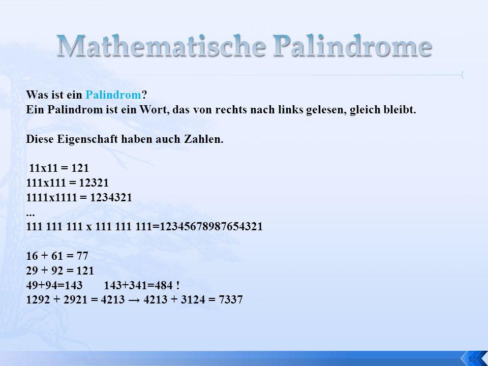 Mathematische Palindrome