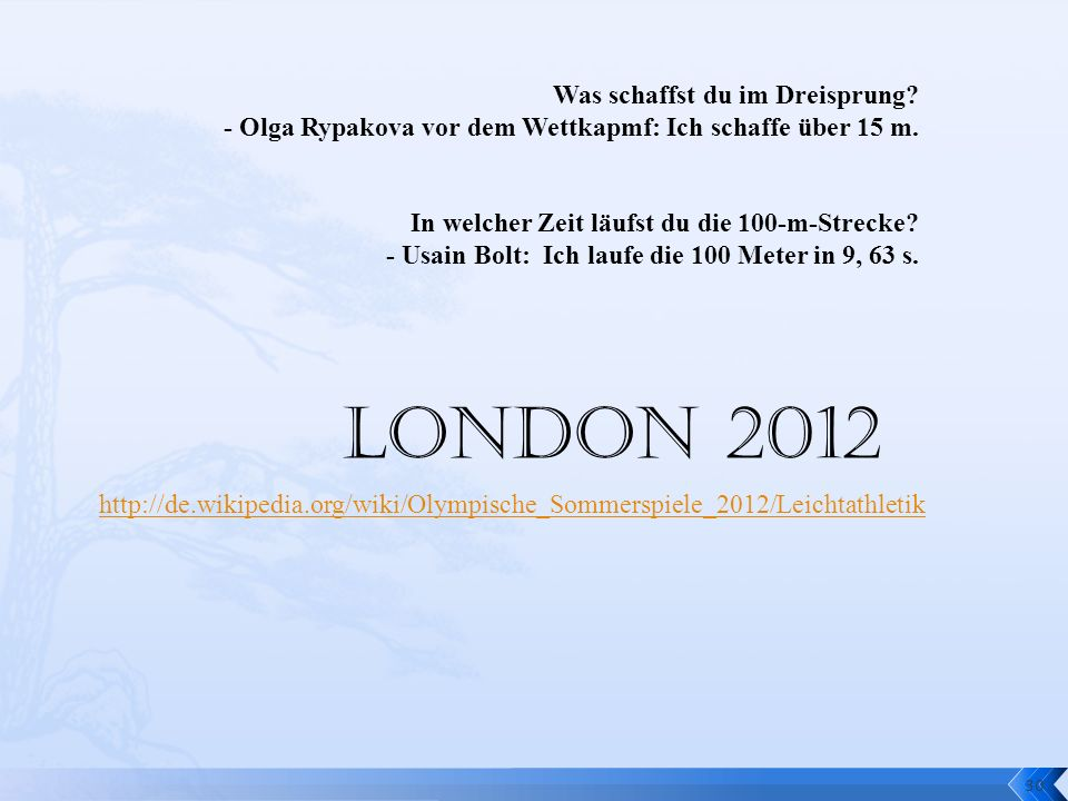 London 2012 Was schaffst du im Dreisprung