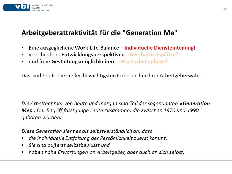 Arbeitgeberattraktivität für die Generation Me