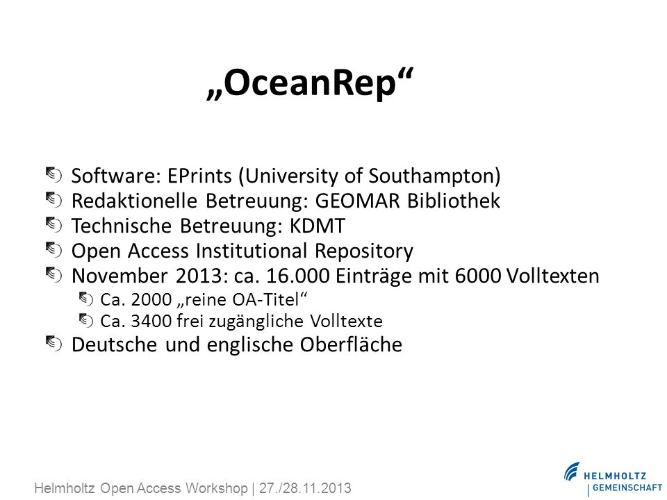 """OceanRep Software: EPrints (University of Southampton)"