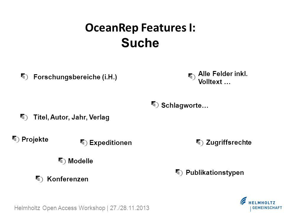 OceanRep Features I: Suche