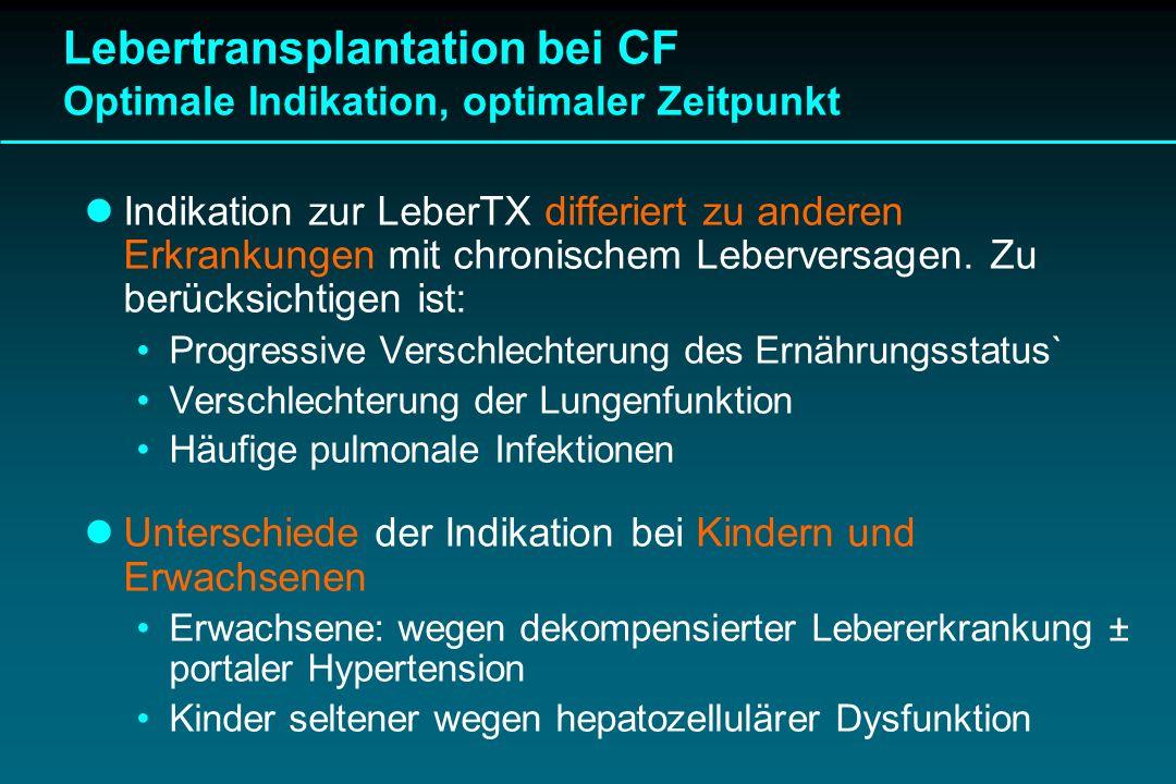 Lebertransplantation bei CF