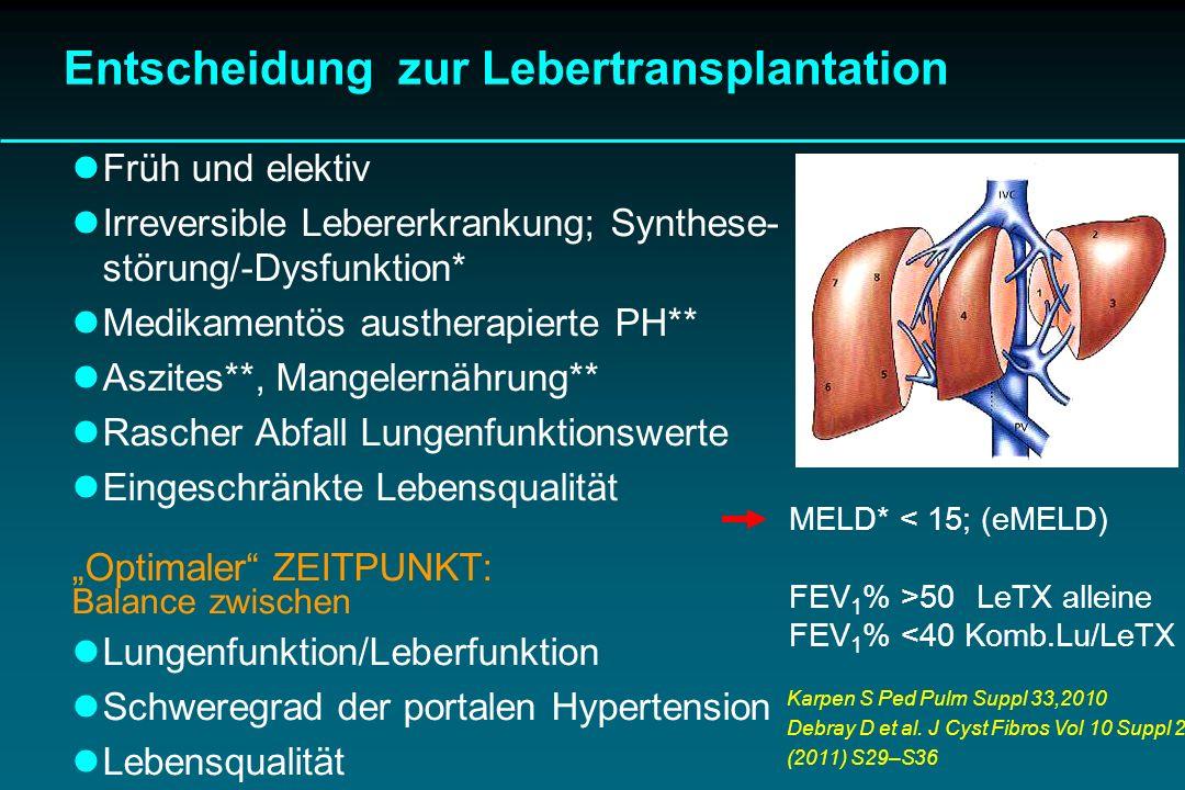 Entscheidung zur Lebertransplantation