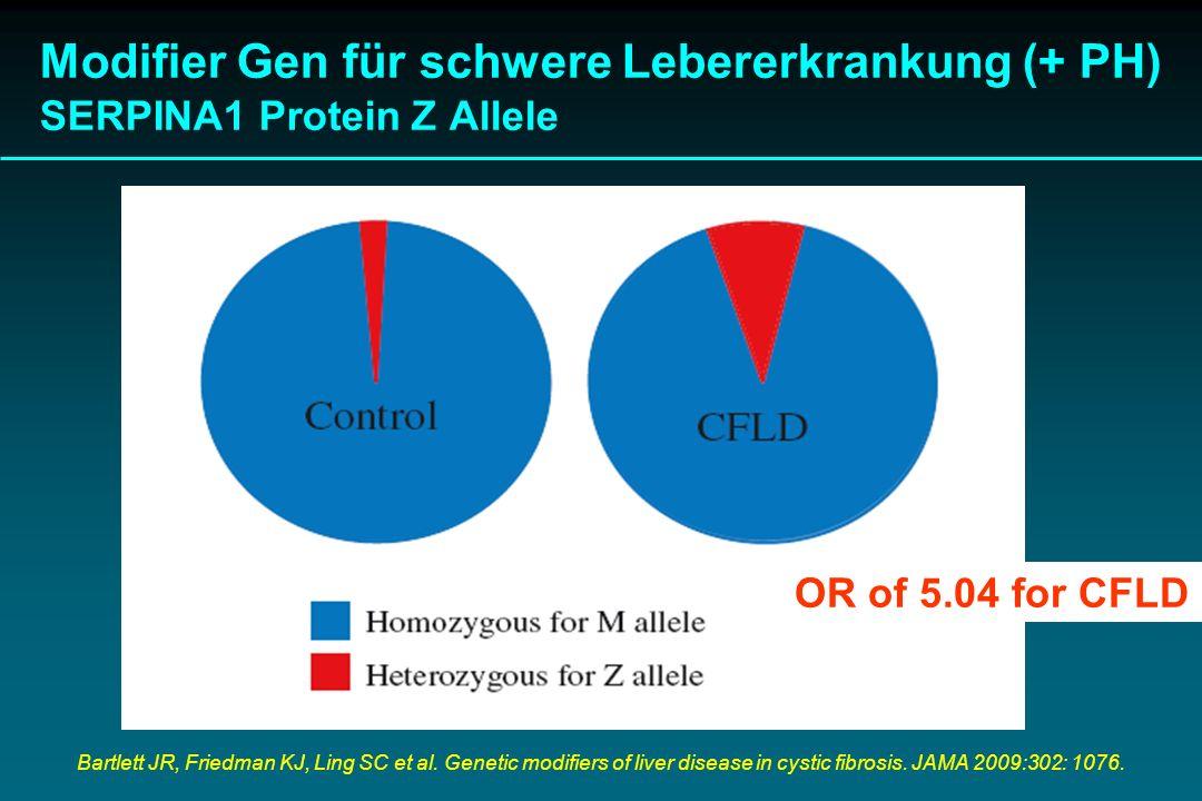 Modifier Gen für schwere Lebererkrankung (+ PH) SERPINA1 Protein Z Allele