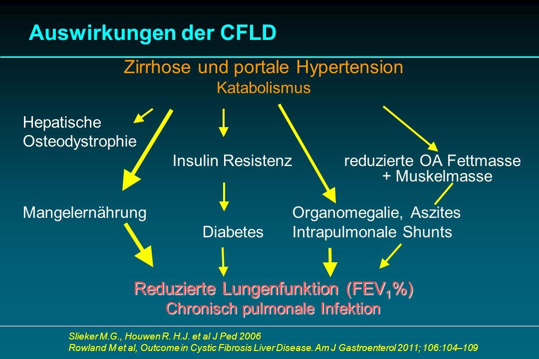 Auswirkungen der CFLD Zirrhose und portale Hypertension