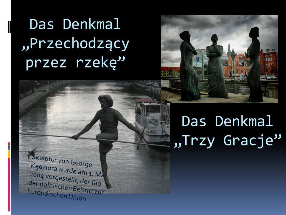 """Das Denkmal """"Przechodzący przez rzekę"""