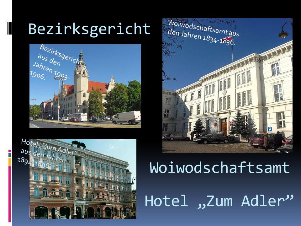 """Bezirksgericht Woiwodschaftsamt Hotel """"Zum Adler Woiwodschaftsamt aus"""