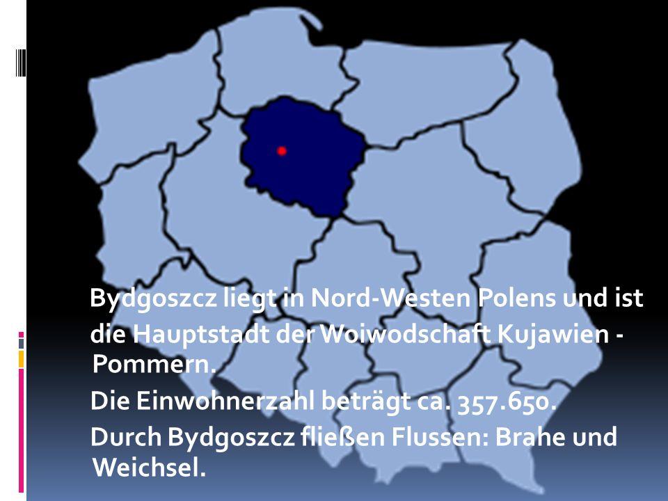 Bydgoszcz liegt in Nord-Westen Polens und ist die Hauptstadt der Woiwodschaft Kujawien - Pommern.
