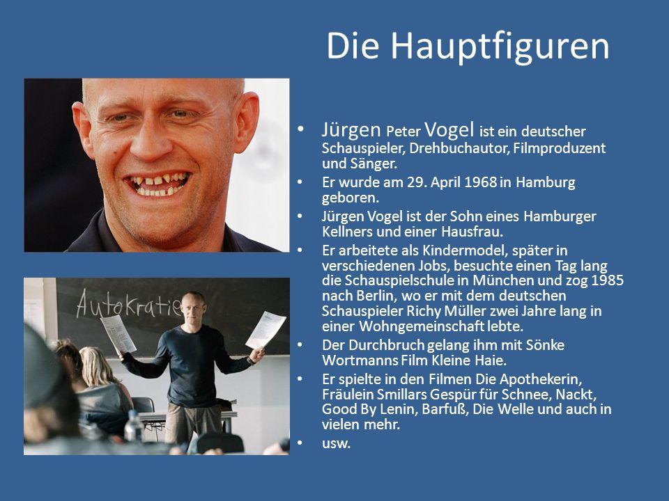 Die Hauptfiguren Jürgen Peter Vogel ist ein deutscher Schauspieler, Drehbuchautor, Filmproduzent und Sänger.