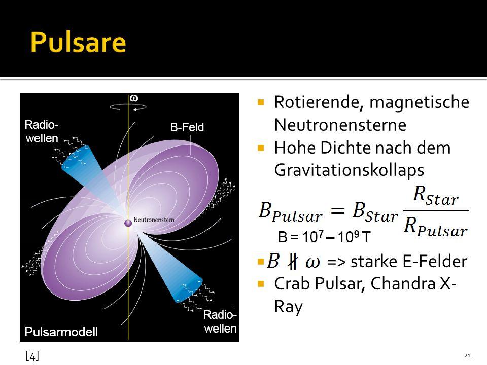Pulsare Rotierende, magnetische Neutronensterne