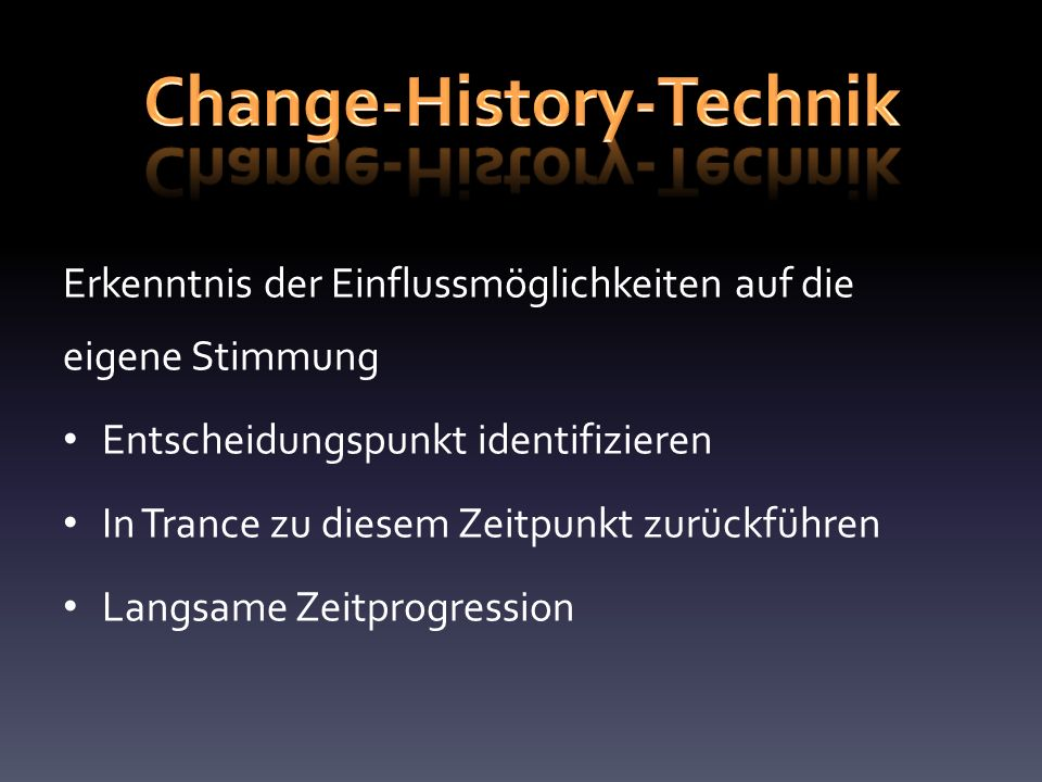 Change-History-Technik