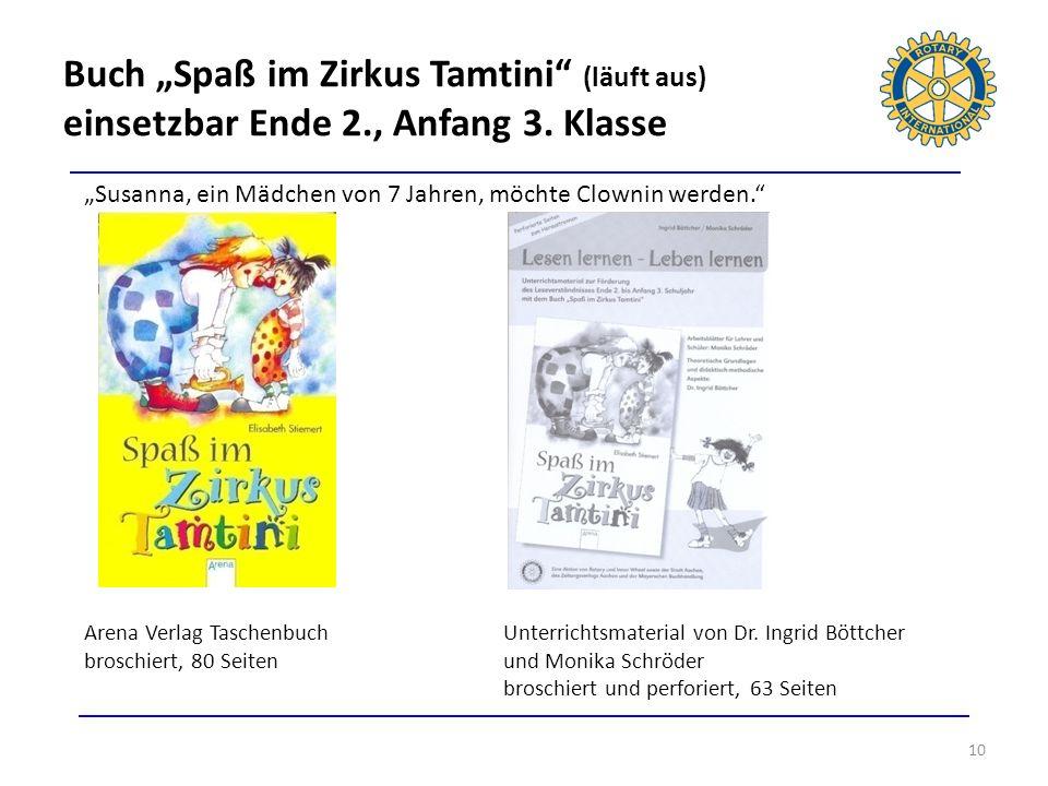 """Buch """"Spaß im Zirkus Tamtini (läuft aus) einsetzbar Ende 2., Anfang 3. Klasse"""