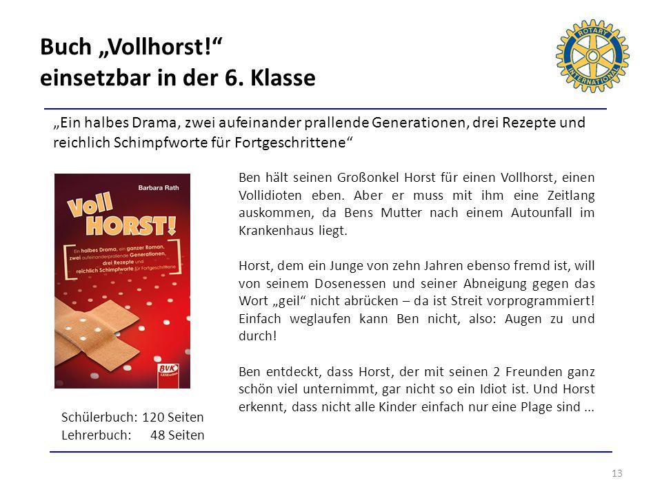 """Buch """"Vollhorst! einsetzbar in der 6. Klasse"""