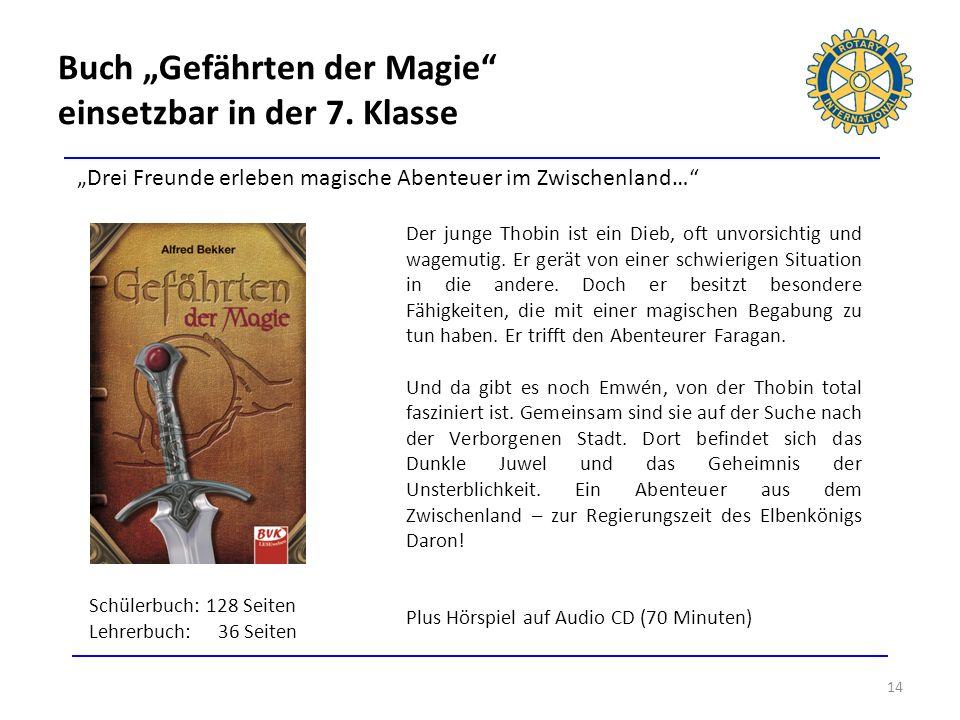 """Buch """"Gefährten der Magie einsetzbar in der 7. Klasse"""