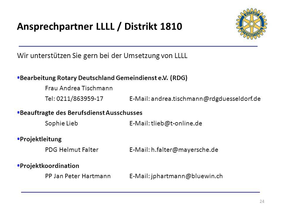 Ansprechpartner LLLL / Distrikt 1810
