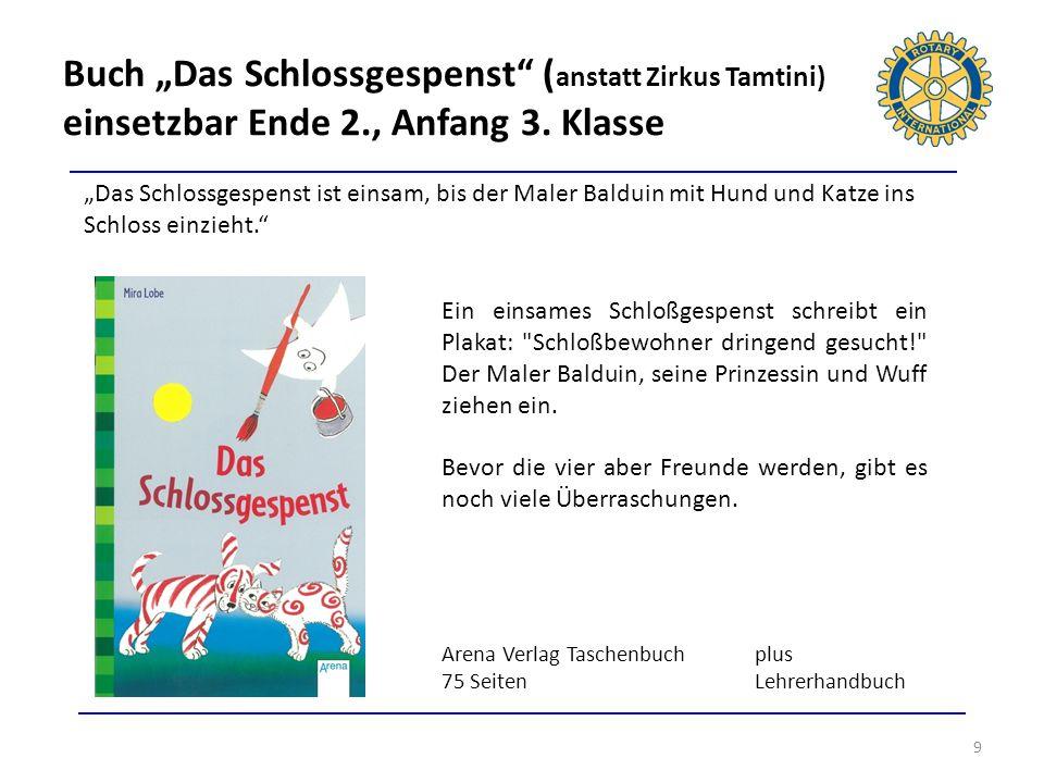 """Buch """"Das Schlossgespenst (anstatt Zirkus Tamtini) einsetzbar Ende 2"""