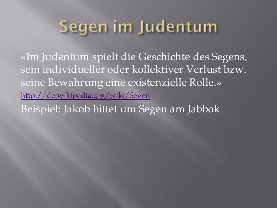Segen im Judentum