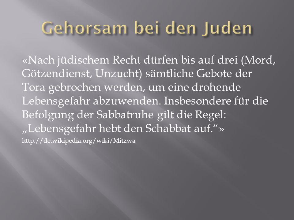Gehorsam bei den Juden
