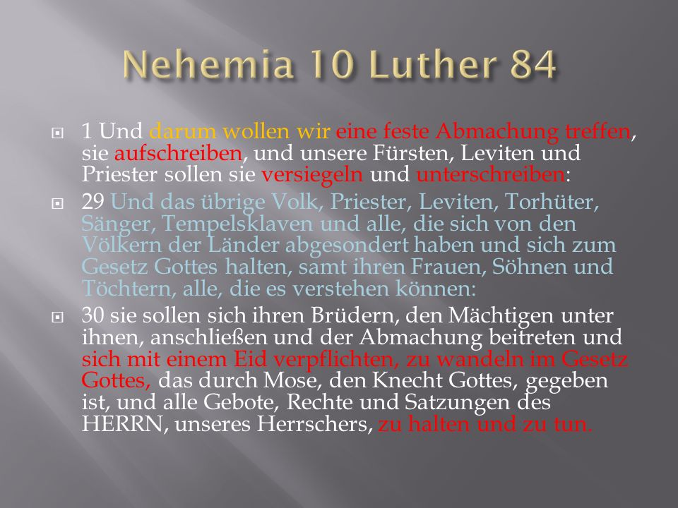 Nehemia 10 Luther 84