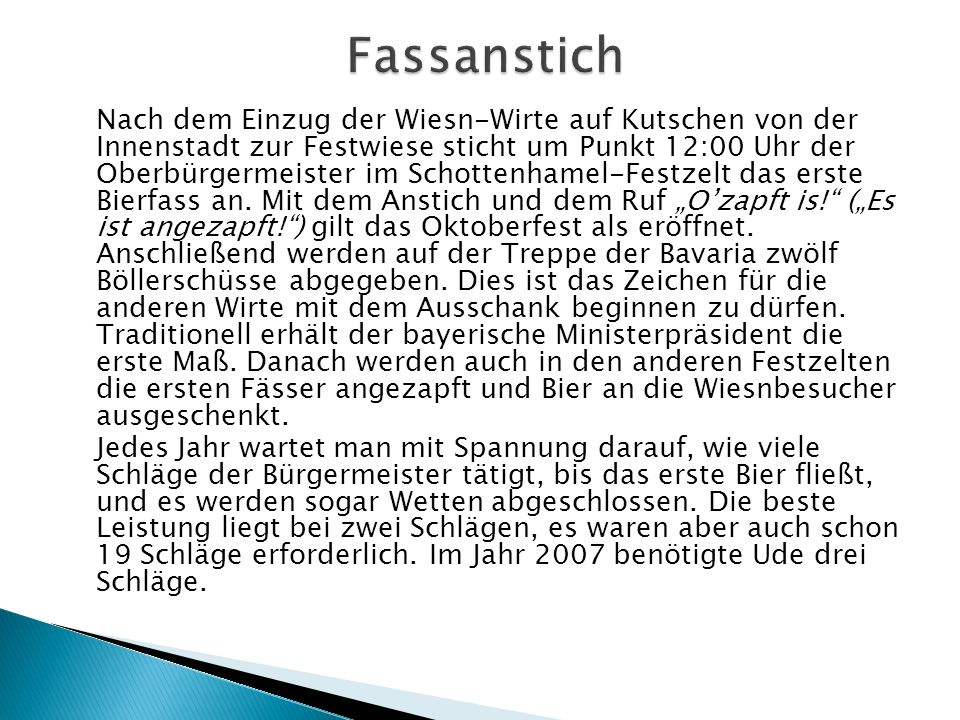 Fassanstich