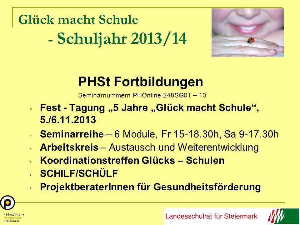 Glück macht Schule - Schuljahr 2013/14