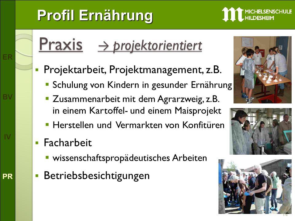 Praxis → projektorientiert