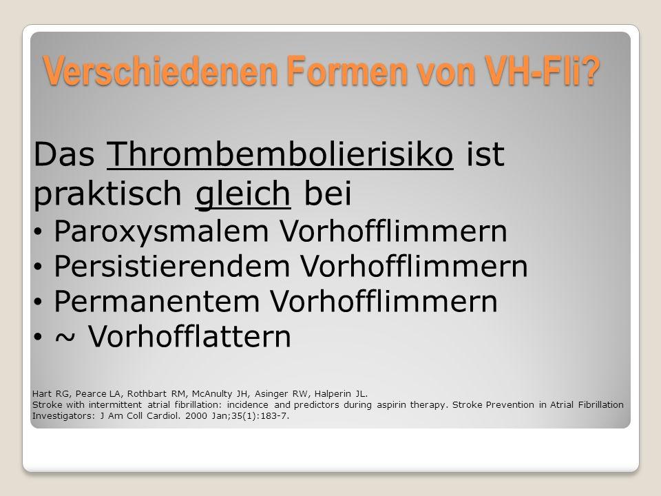 Verschiedenen Formen von VH-Fli