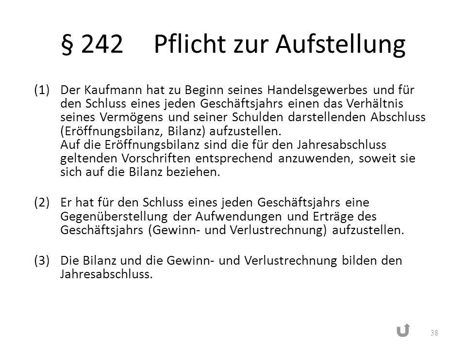 § 242 Pflicht zur Aufstellung