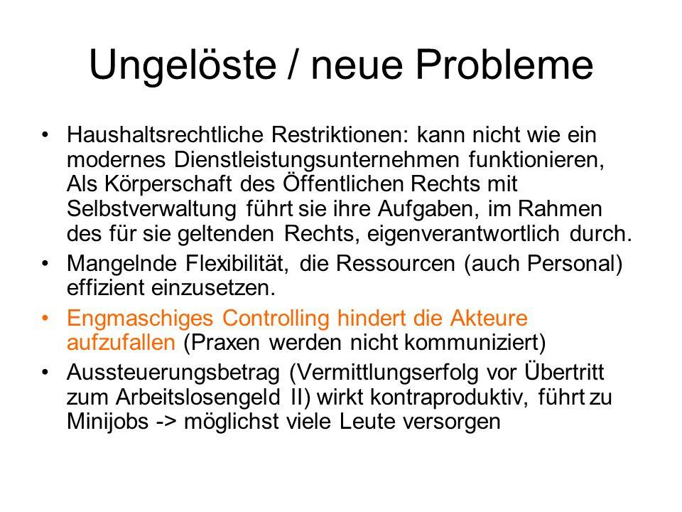 Ungelöste / neue Probleme