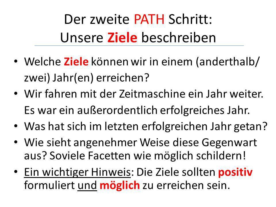 Der zweite PATH Schritt: Unsere Ziele beschreiben