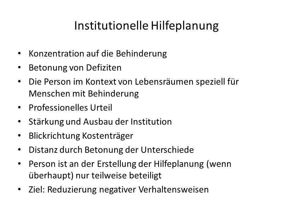 Institutionelle Hilfeplanung