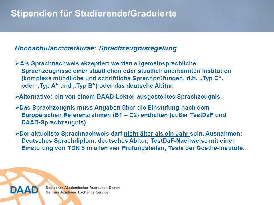 Stipendien für Studierende/Graduierte