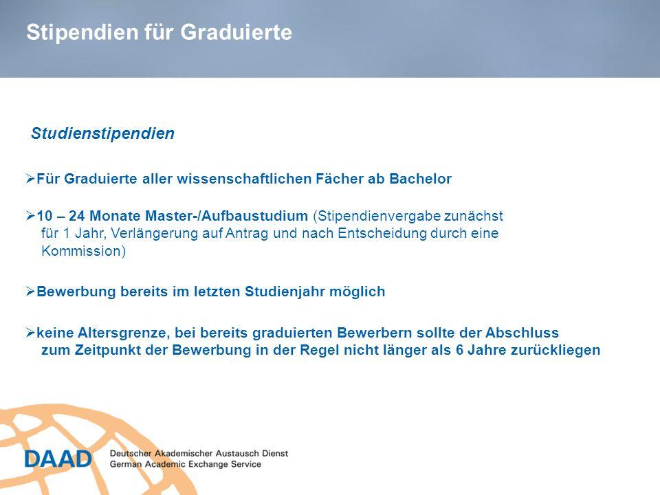 Stipendien für Graduierte