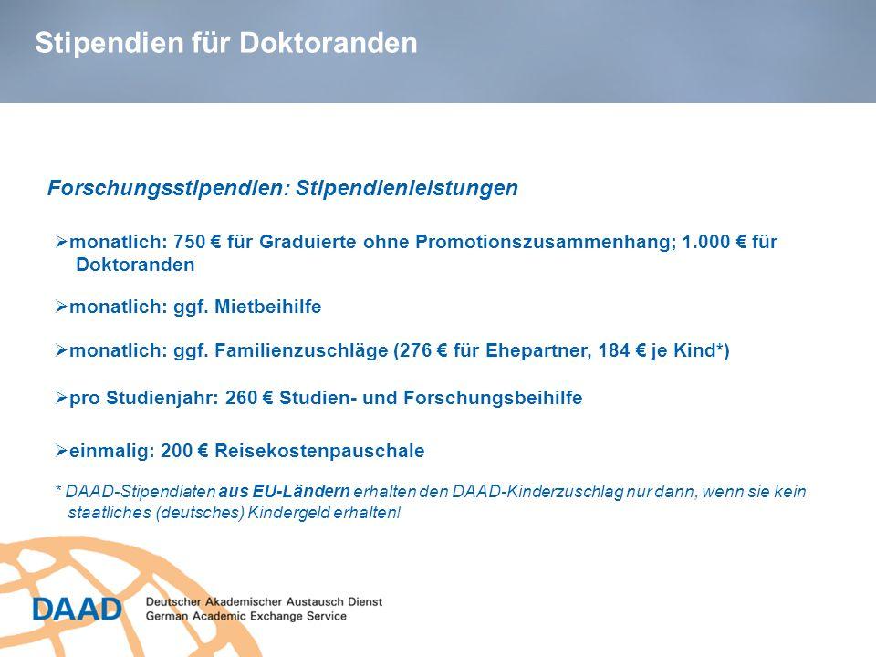 Stipendien für Doktoranden