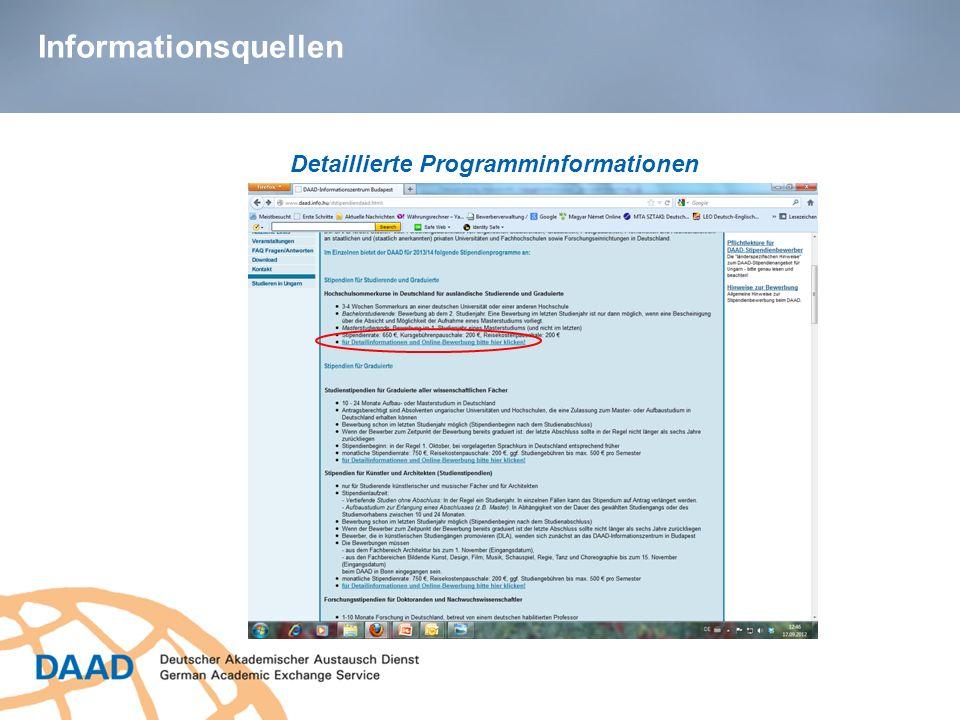Detaillierte Programminformationen