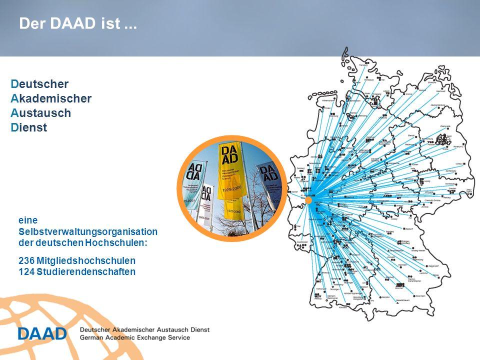 Der DAAD ist ... Deutscher Akademischer Austausch Dienst eine