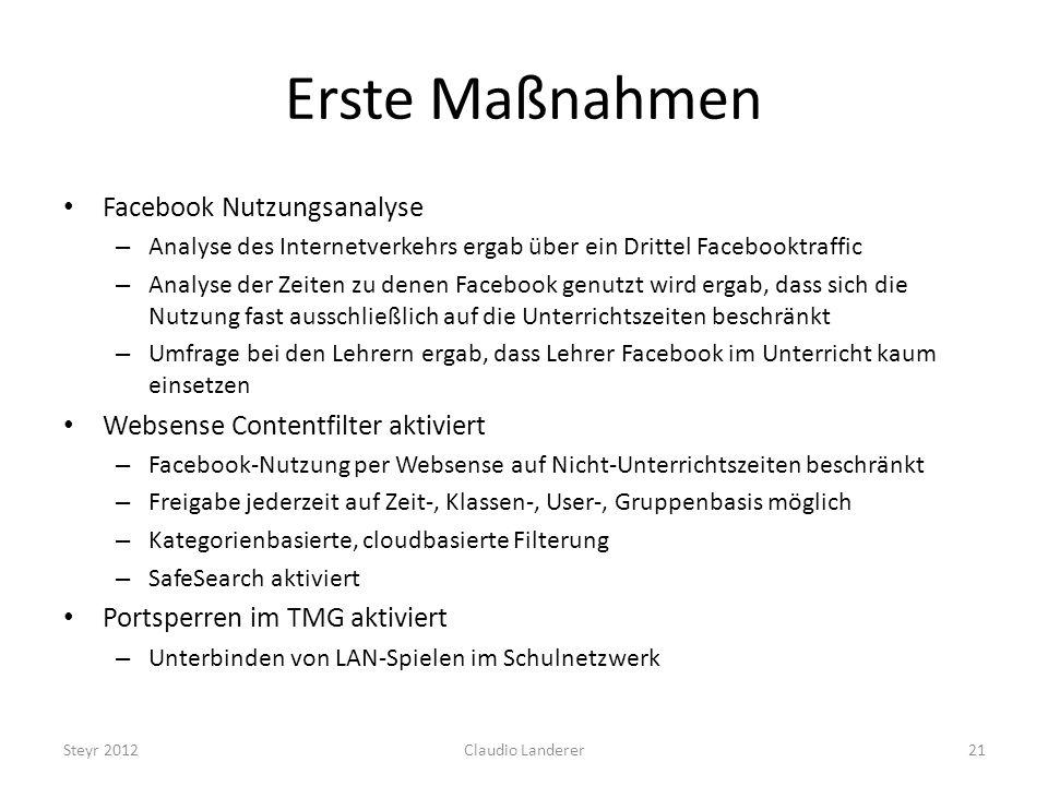 Erste Maßnahmen Facebook Nutzungsanalyse