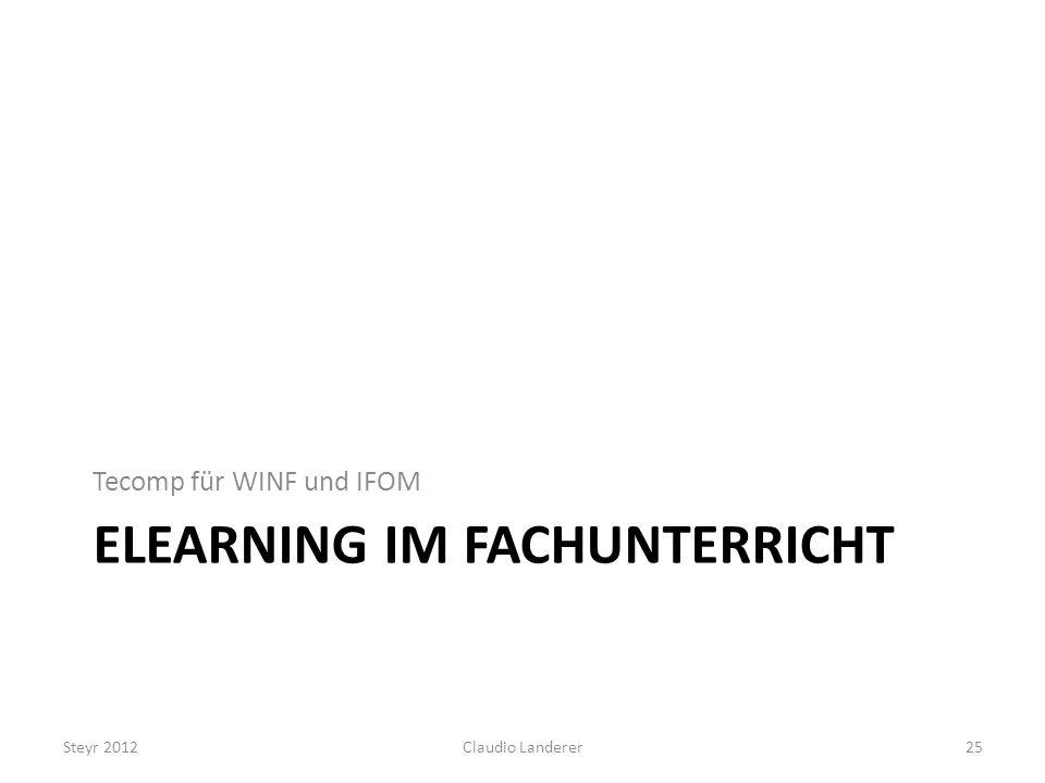 eLearning im Fachunterricht