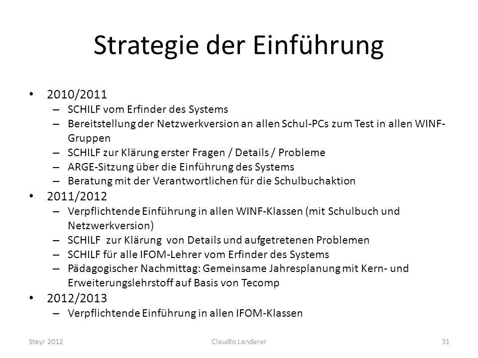 Strategie der Einführung
