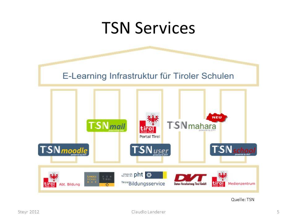 TSN Services Quelle: TSN Steyr 2012 Claudio Landerer